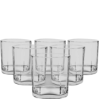 Ocean Rock Pyramid Clear Whiskey Glass Set Of 6 330 ml