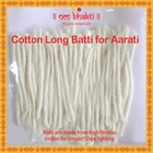 Om Bhakti Lamp Wicks Cotton Long Batti 100 Nos