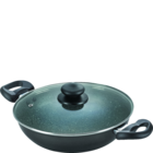 Prestige Omega Deluxe Non Stick Kadai 240 MM Dia With Lid 1 pc