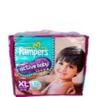 Pampers Active Baby XL Extra Large 12+ Kg Diapers 32 pcs