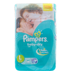 Pampers Large (9-14 Kg) Disposable Diapers 60 pc