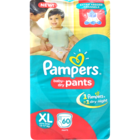 Pampers Pant Dipers XL Extra Large 12+ Kg 60 pcs