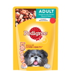 Pedigree Gravy Adult Dog Treat Food Chicken & Liver Chunks Pouch 80 g