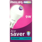 Philips Led Ace Saver 9 W Lamp B22 6500k 1 pc