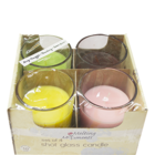 Primacy Shot Glass Candle Scented Pack Of 4 Nos 1 pc