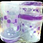 Princeware Printed Container 9431 Set Of 6 Nos 1 pc