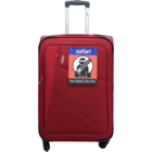 Safari Glide 4 Wheel Red Soft Luggage Stolley 79 Red 1 pc