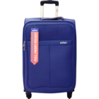 Safari Signature 4 Wheel Blue Soft Luggag strolley 55 cm 1 pc
