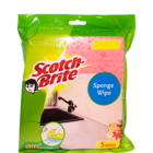 Scotch Brite Sponge Wipe 175 X 200 mm 5 Pc