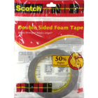 Scotch Double Sided Foam Tape 24 mm X 3 m 1 pc