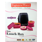 Signoraware Trio Lunch Box With Bag No.525 1 Pc