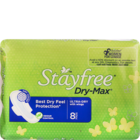 Stayfree Dry-Max Ultra Dry With Wings 8 pcs
