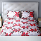 Welhome Lapizza Double Bed Sheet 02 Red 224 x 254c m 1 pc