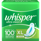 Whisper Ultra Clean XL Wings Sanitary Pads 15 pcs
