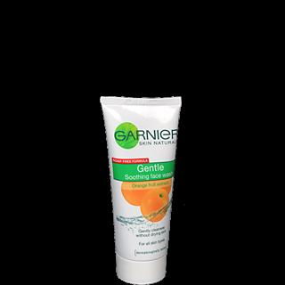 Garnier Gentle Soothing Orange Face Wash