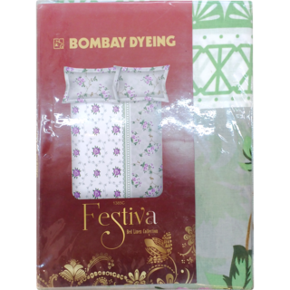 Bombay Dyeing Festiva Cotton Double Bedsheet 144 Assorted