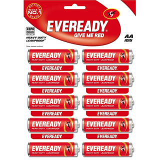 Eveready Heavy Duty AA Battery Red 1.5V