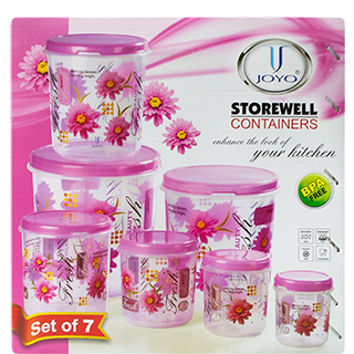 Joyo Storewell Storage Container Pack of 7 Nos