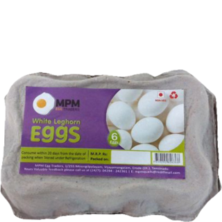 MPM Eggs White Leghorn Pack of