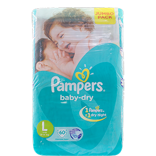 Pampers Large (9-14 Kg) Disposable Diapers