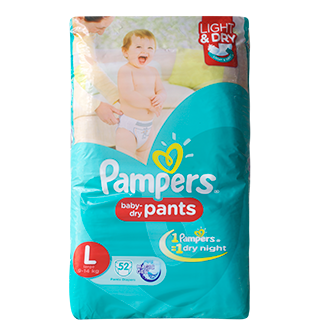 Pampers Large Pants Diapers 9-14 kg