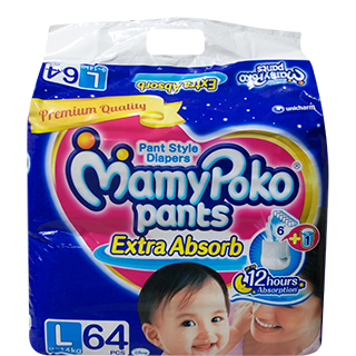 Mamy Poko Pant Style Diapers Large 9-14 kg Diapers
