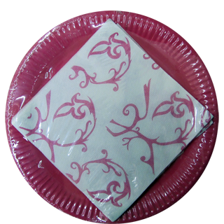 Origami Printed Paper Plates  sc 1 st  MyMoreStore & Origami Printed Paper Plates 20 pc - Buy Online