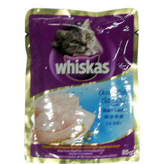 Whiskas Wet Meal Adult Cat Food Ocean Fish Pouch