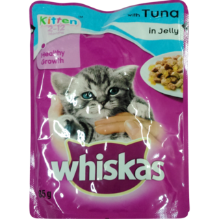 Whiskas Wet Meal Kitten Food Tuna in Jelly Pouch