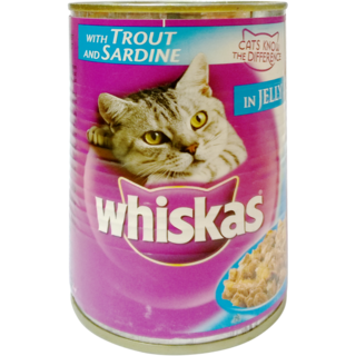 Whiskas Wet Meal Adult Cat Food Trout & Sardine Can