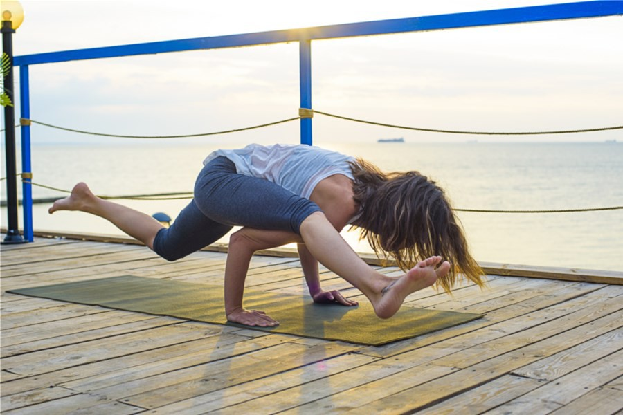 Detailafbeelding van Yogaweekend op het water