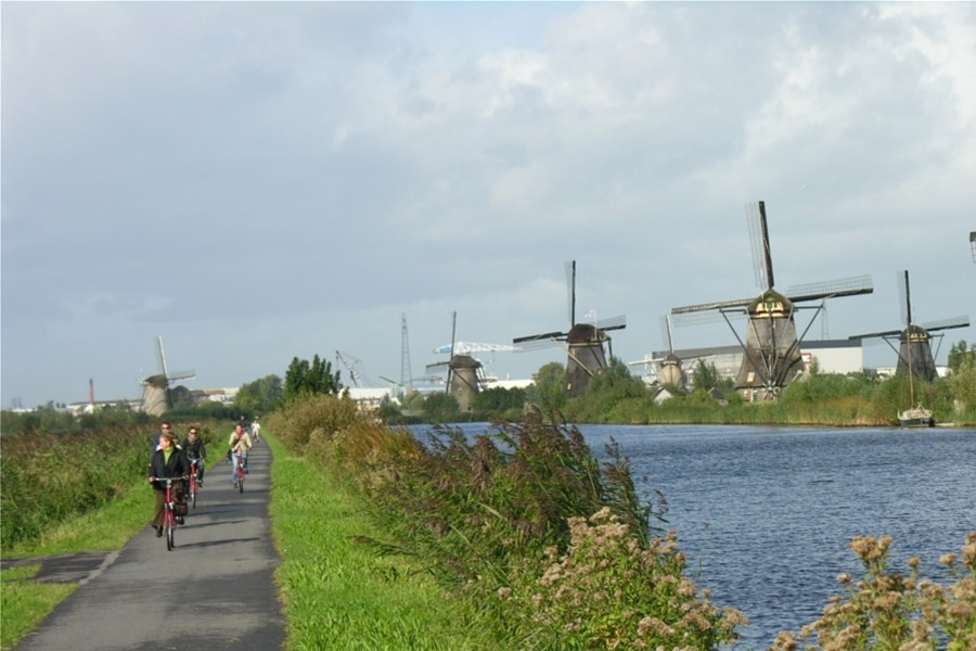 Detailafbeelding van Fietsen en zeilen rondom het IJsselmeer